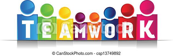 teamwork, pojęcie, słowo - csp13749892