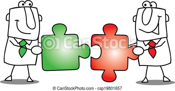 Teamwork - puzzles. - csp19801657