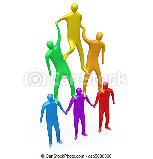 teamwork people helping each other to form a human pyramid stock rh canstockphoto com