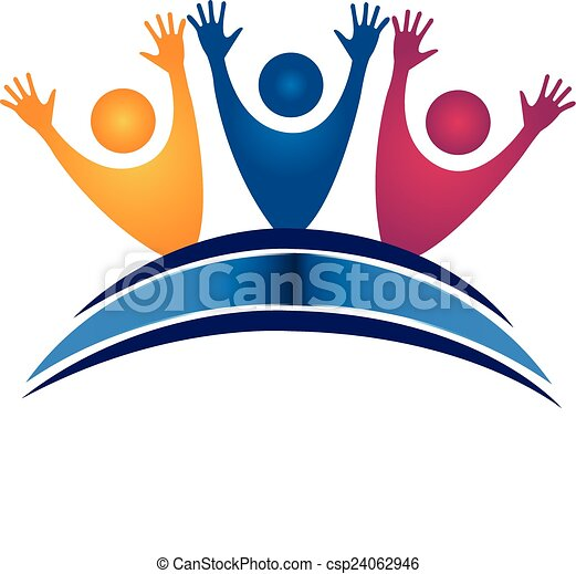 teamwork students with book logo teamwork happy students eps rh canstockphoto com