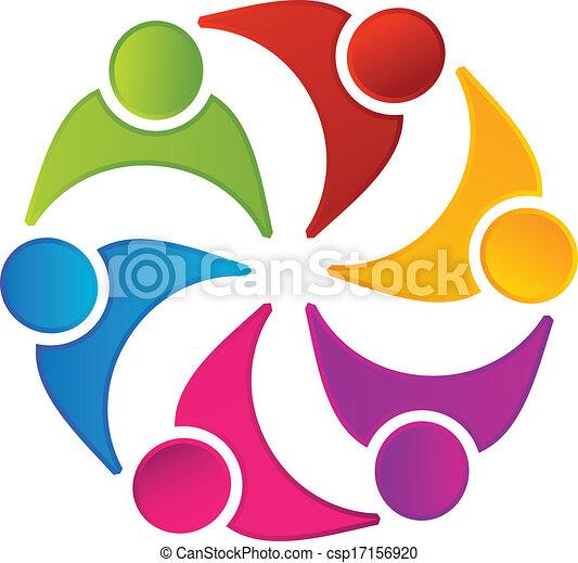 Teamwork united people logo - csp17156920
