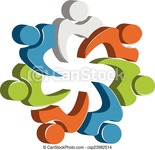 teamwork unity people logo design template icon vector vector clip rh canstockphoto com teamwork clip art pictures teamwork clip art funny