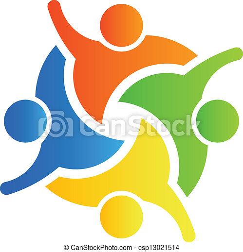 teamwork winner 4 group of 4 winner people vector clip art search rh canstockphoto ie teamwork clipart images