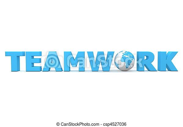 Teamwork World Blue - csp4527036