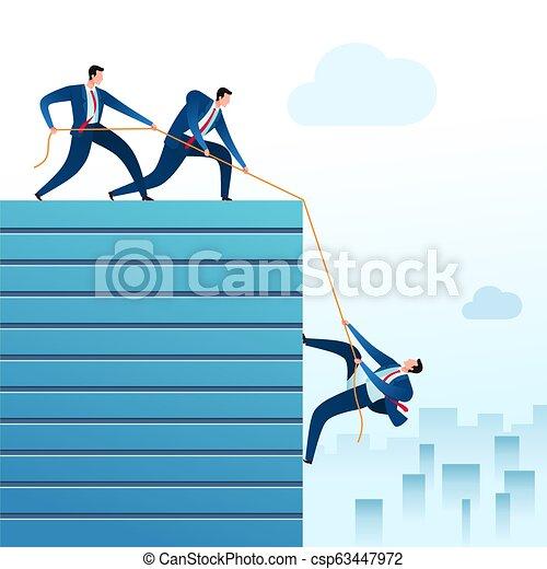 teamwork, zakelijk - csp63447972