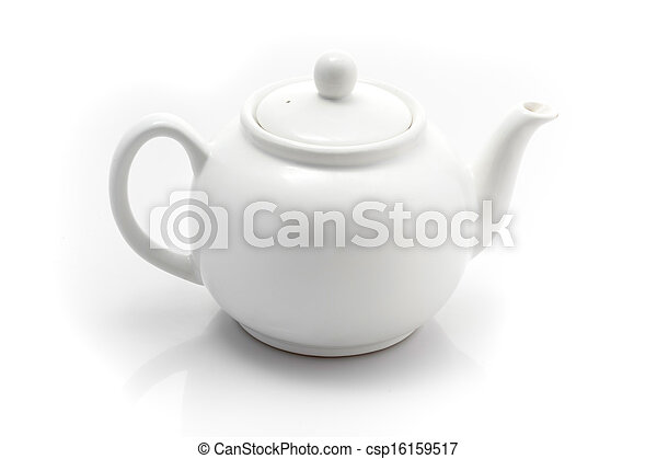 teapot isolated on a white background - csp16159517