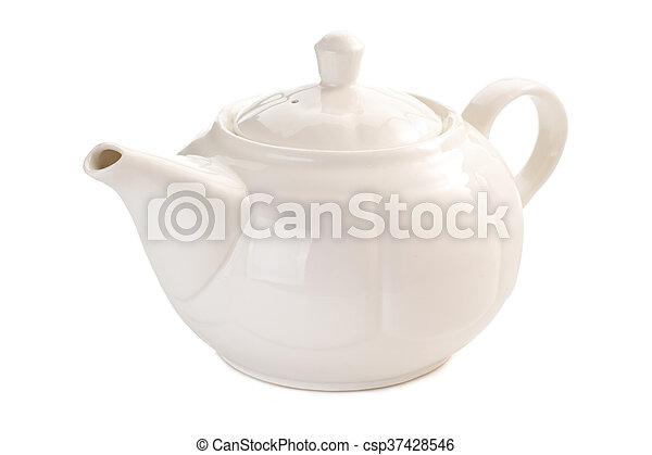 teapot isolated on white - csp37428546
