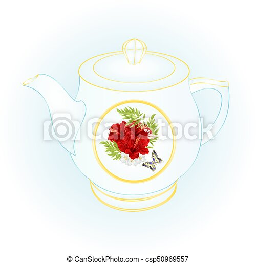 Vintage Teapot Clipart