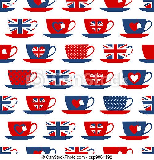 Hora del té británico - csp9861192