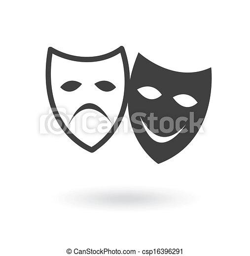 teatro, ícone - csp16396291