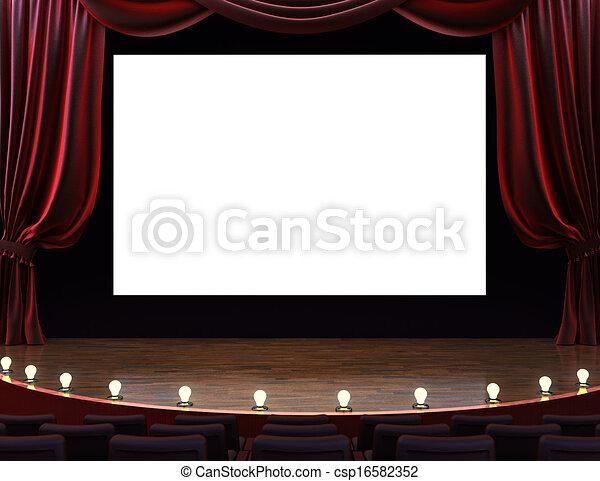 teatro filme, cinema - csp16582352