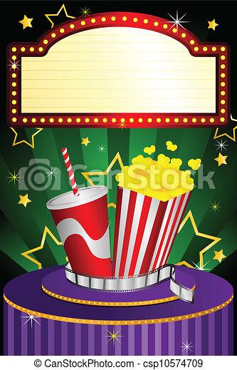 teatro filme, fundo - csp10574709