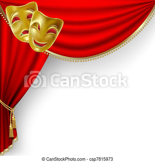 teatro, stage., mesh. - csp7815973