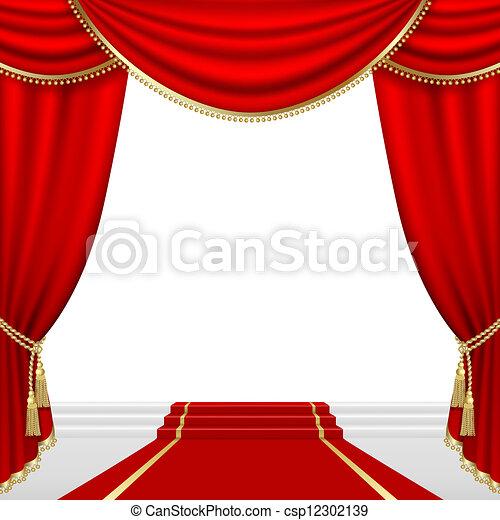 teatro, stage., mesh. - csp12302139
