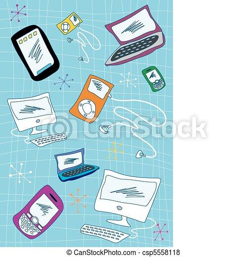 Tech devices icons set illustration - csp5558118