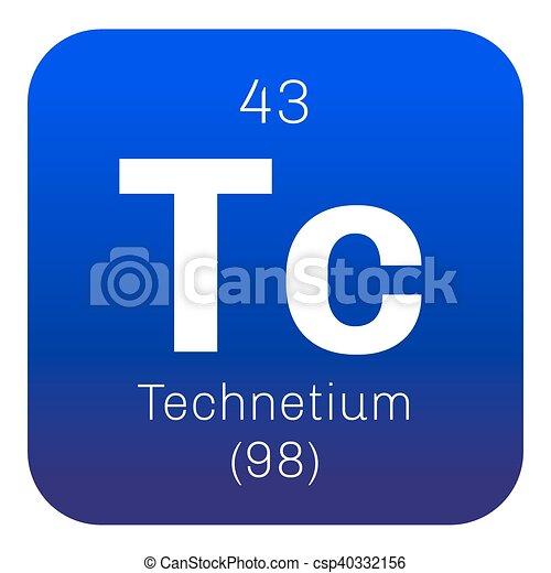 Technetium Chemical Element Lightest Radioactive Element Colored