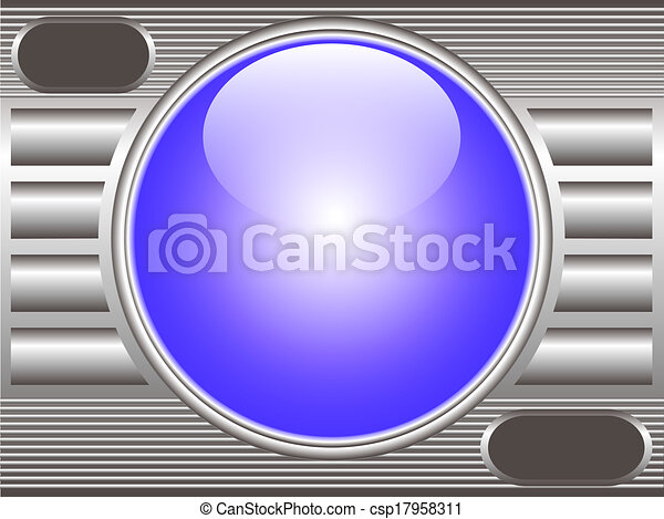 technical background metal with glass ball - csp17958311