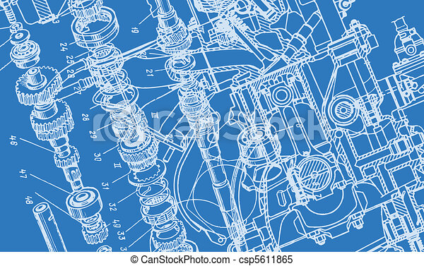 technical drawing background - csp5611865