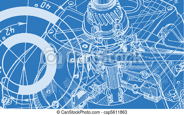 technical drawing background - csp5611863