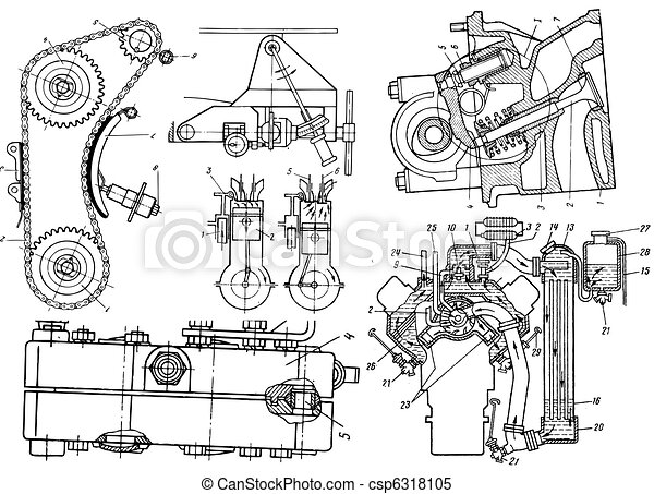 Technical drawing or blueprint on white background technical drawing csp6318105 malvernweather Gallery