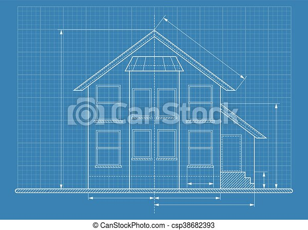 Technical drawing house blueprint objects isolated on white eps technical drawing house blueprint csp38682393 malvernweather Image collections