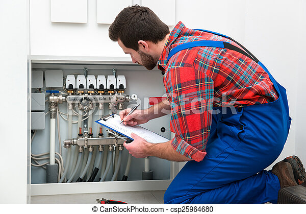 Technician at the work - csp25964680