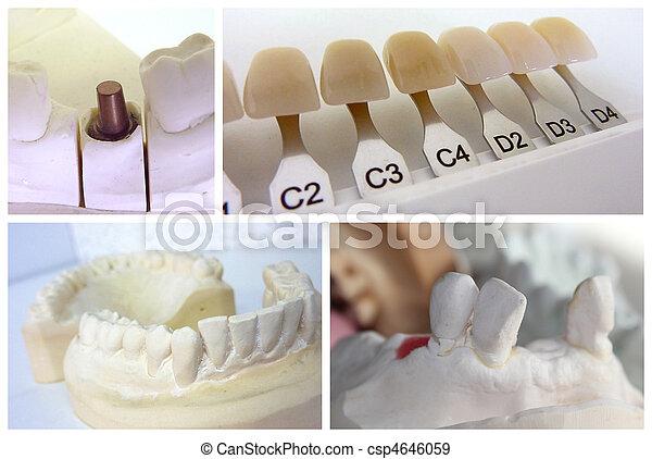 technicien, dentaire, objets - csp4646059