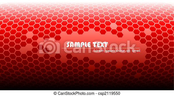 technisch, abstract, rode achtergrond - csp2119550