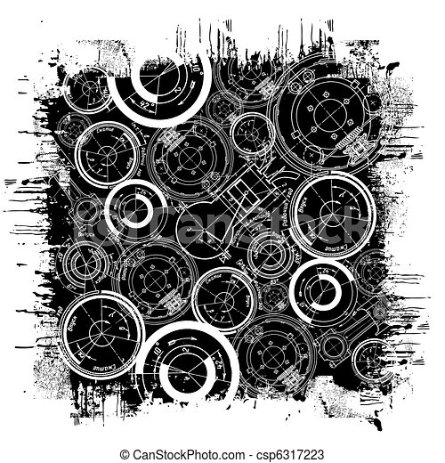 Abstrakte technische Zeichnung - csp6317223