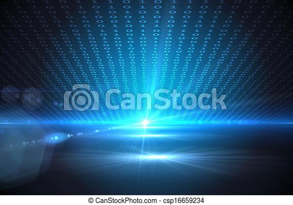 Technischer Hintergrund mit Binärcode - csp16659234