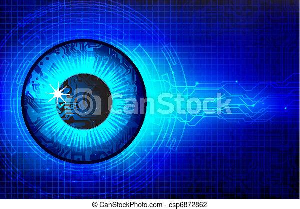 technisch, oog - csp6872862