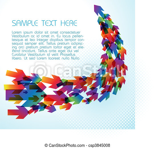 technisch, pijl, achtergrond, kleurrijke - csp3845008