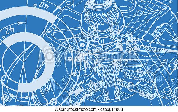 technische tekening, achtergrond - csp5611863