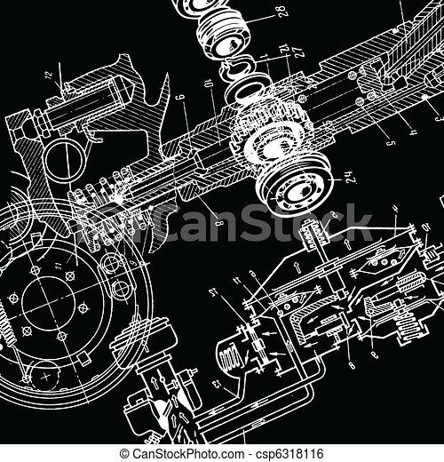 technische zeichnung - csp6318116