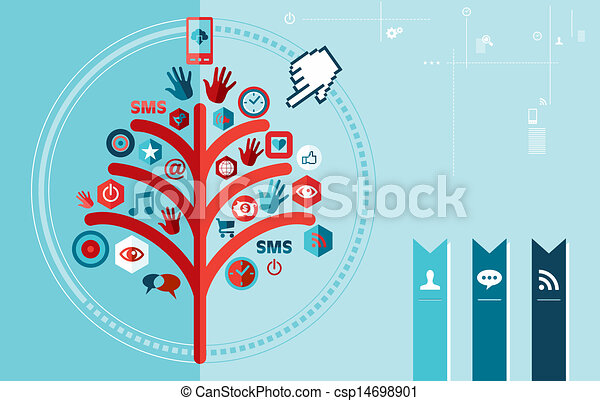 Techno social network tree design - csp14698901