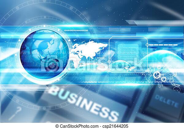technológia, háttér, digitális - csp21644205