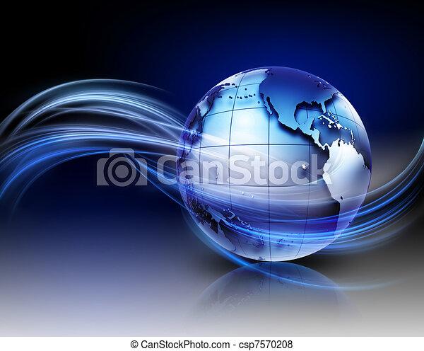 technológia, háttér - csp7570208