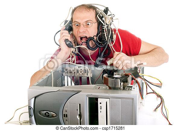 technológia, pánik - csp1715281