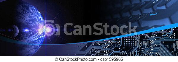 technológia, transzparens - csp1595965