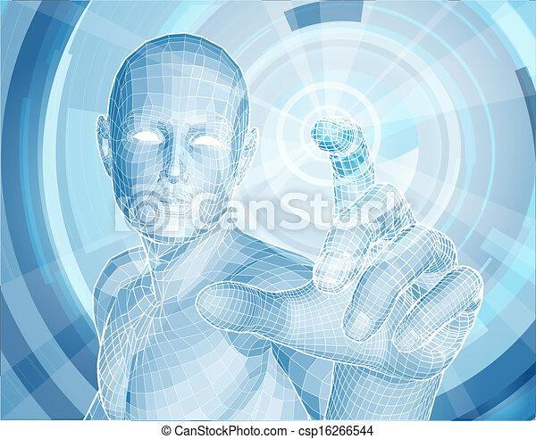 technologia, app, pojęcie, przyszłość, 3d - csp16266544