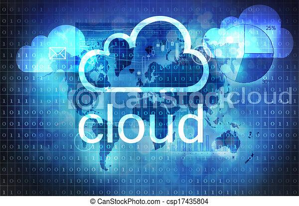 technologia, chmura - csp17435804