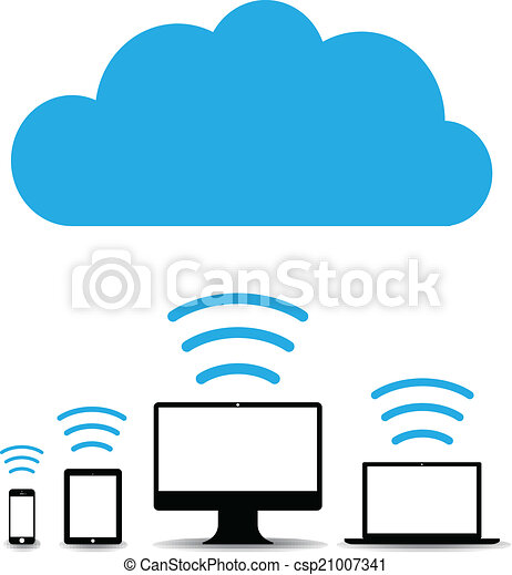 technologia, chmura, tło - csp21007341