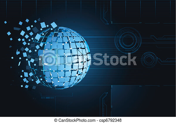Technological Background - csp6792348