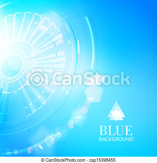Technological background of blue cogwheel. - csp15398455