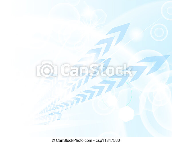 Technological blue background - csp11347580