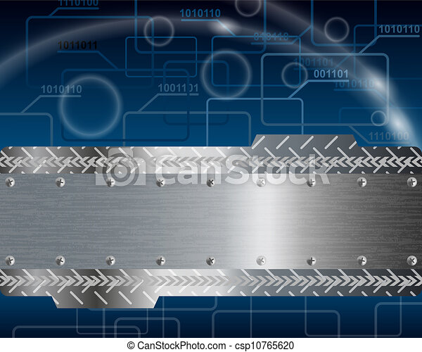 Technological blue background - csp10765620
