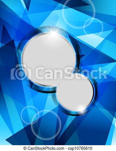 Technological blue background - csp10765610