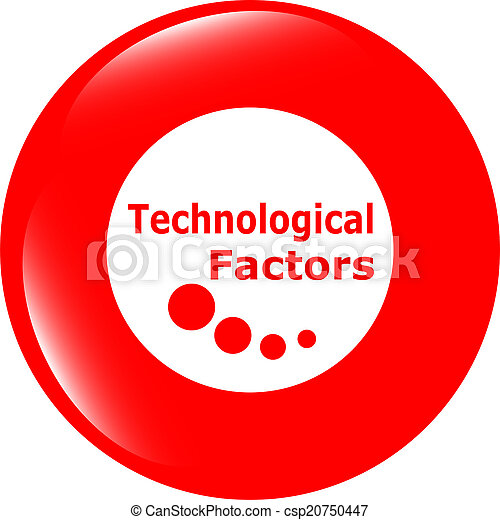 technological factors web button, icon isolated on white - csp20750447