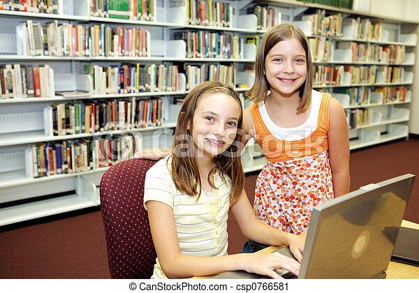 technologie, école, -, classe, bibliothèque - csp0766581