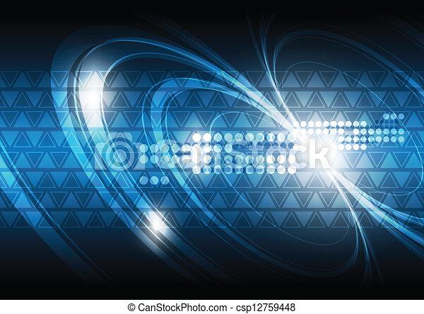 technologie, achtergrond, digitale  - csp12759448
